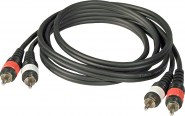 JBSYSTEMS 2,5M AUDIO CABLE 2XRCA GOLD + 2XRCA GOLD